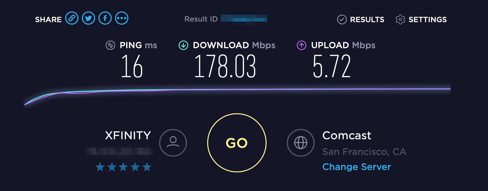 Comcast Speed Test