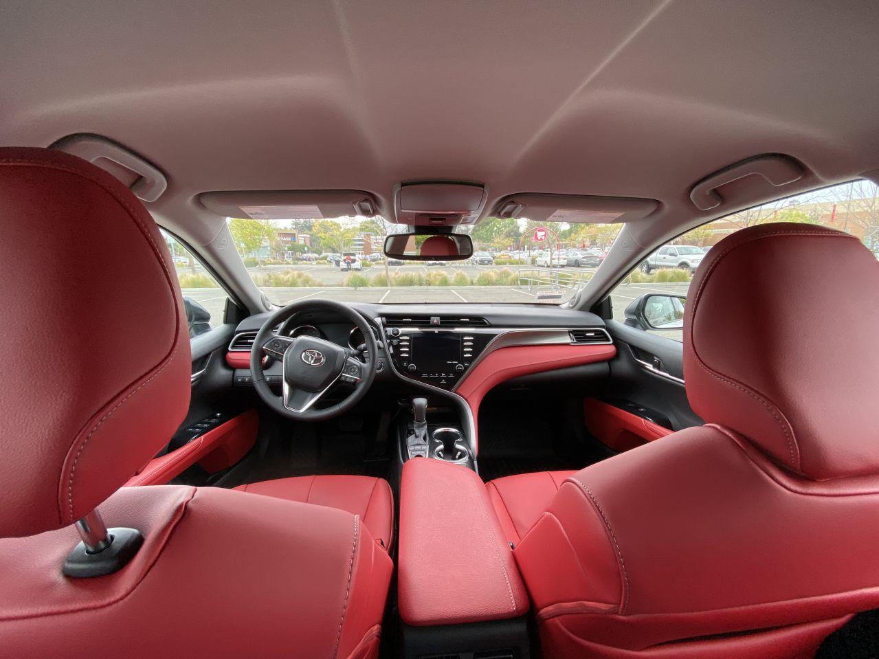 Toyota Camry XSE Red Interior