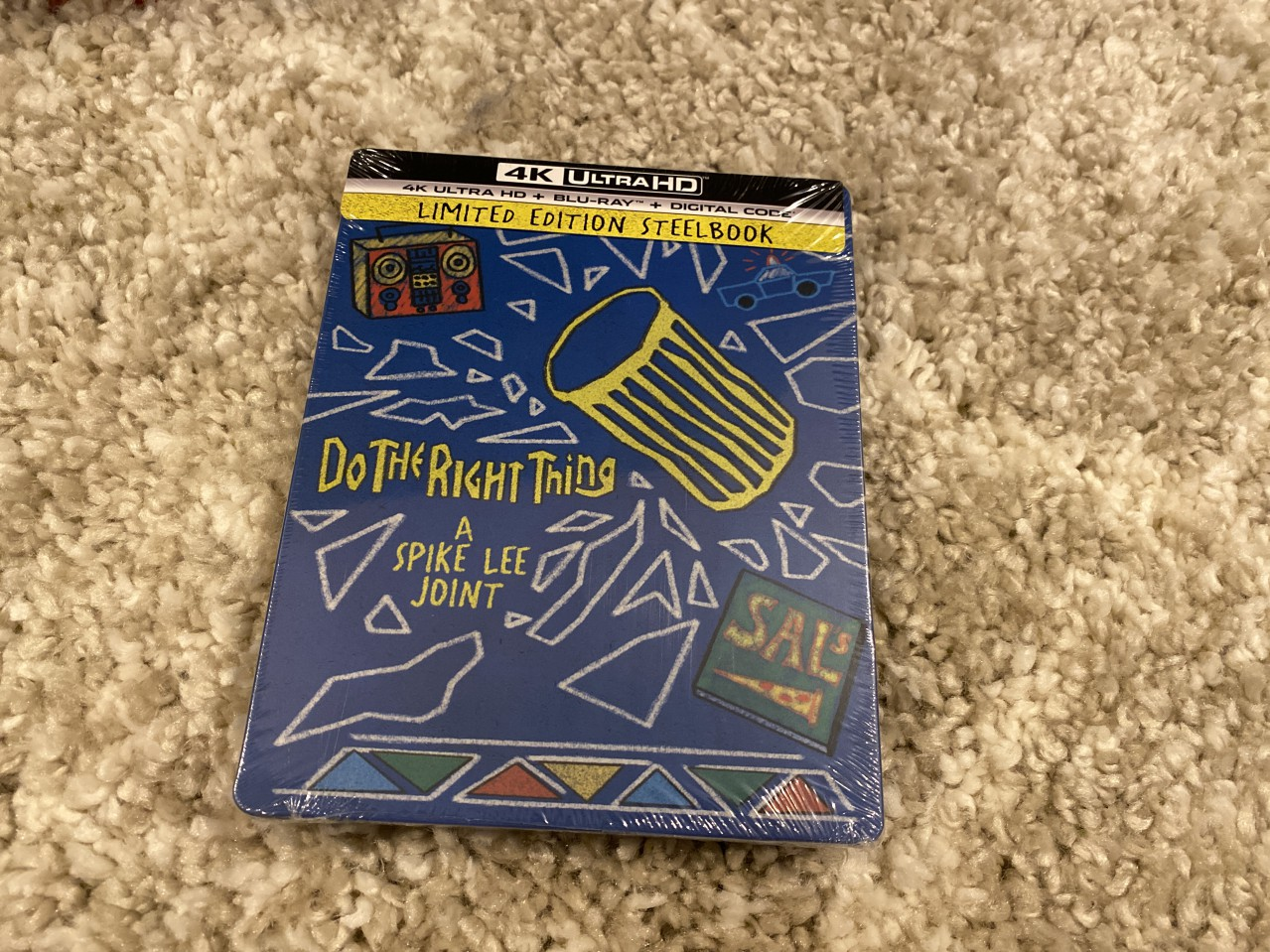 Do The Right Thing 4K UHD Blu-ray in a Steelbook case