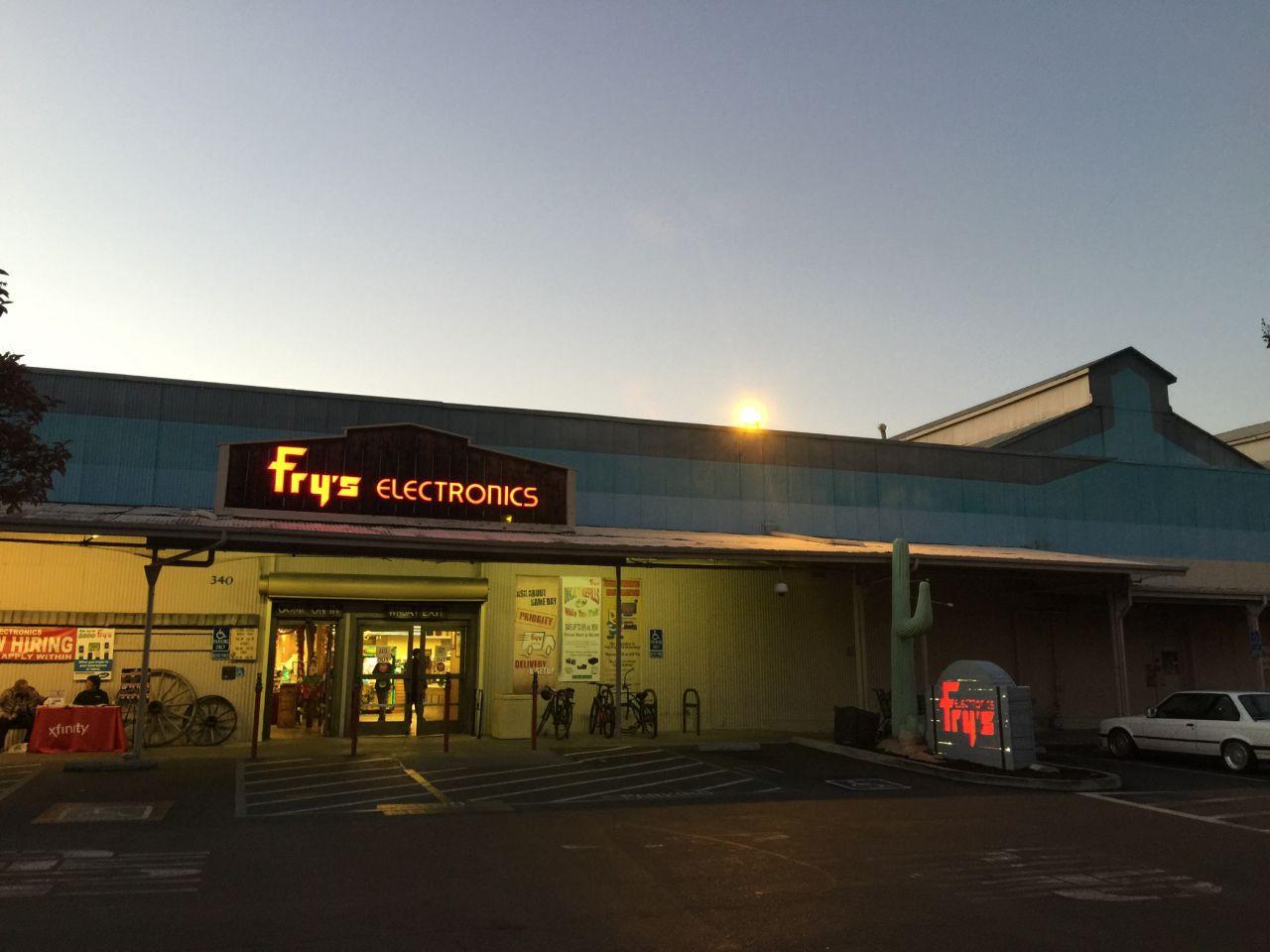 Fry's Electronics Palo Alto Nighttime