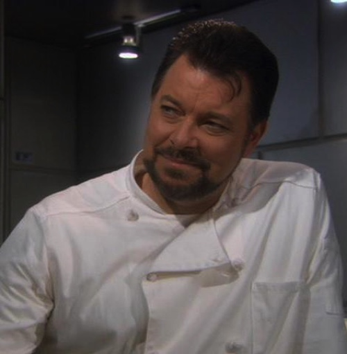Riker as Enterprise Cook