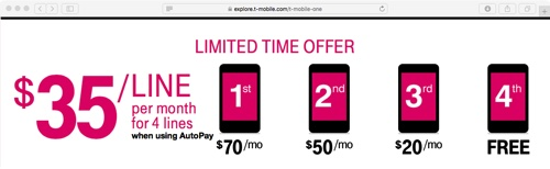 T-Mobile One Promotion